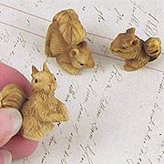 Set of Miniature Squirrels