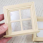 Wooden Dollhouse Window