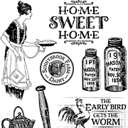 Home Sweet Home Cling Stamp Set 1 - Country Life