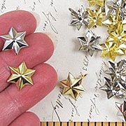 Gold and Silver 3D Star Brads