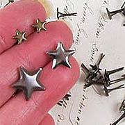 Antique Metal Star Brads