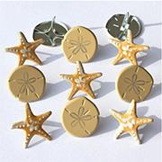 Seashore Brads - Starfish & Sand Dollars