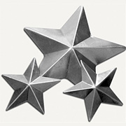 Salvaged Tin Stamped Metal Stars