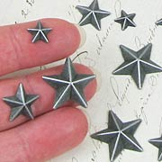 Tim Holtz Adornments - Metal Stars