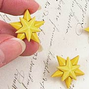 Christmas Star Buttons