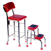 Retro Kitchen Stepstool & Chair Set