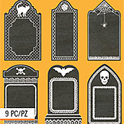 Black Chalkstock Tombstone Stickers*