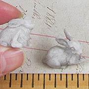 Stone Rabbit Figurine Set