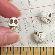 White Turquoise Skull Beads