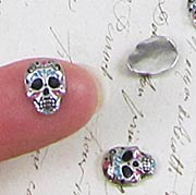 Tiny Sugar Skull Charms*