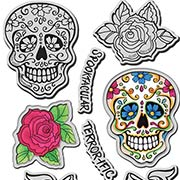 Sugar Skull Cling Stamp & Die Set
