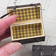Mini Wooden Suitcase with Straps