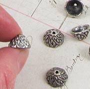 Antique Silver Swirl Cone Bead Caps