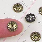 9mm Antiqued Swirl Bead Cap*