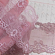 Mauve Rose Wide Lace