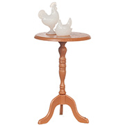 Candlestick Table & Rooster Hen Set
