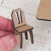 1:24 Rectangular Table & 4 Chairs