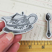 Tea Party Cling Stamp Set*