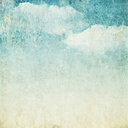 Vintage Teal Clouds Scrapbook Paper