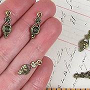 Ornate Antique Brass Teardrops