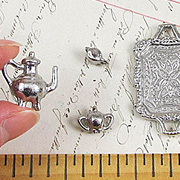 Pewter Dollhouse Tea Service