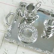 Silver Tea Set on Tray
