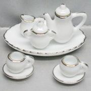 10 Piece White Tea Set