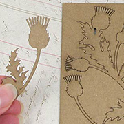Chipboard Thistles Set