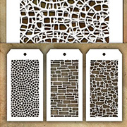 Tim Holtz MINI Stencils - Tiny Stonework