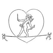 Tightrope Rubber Stamp