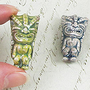 Ceramic Tiki Bead - Large
