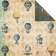 Somewhere in Time Scrapbook Paper - Balloons