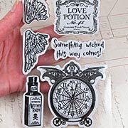 Steampunk Spells Cling Stamp Set - Time Flies