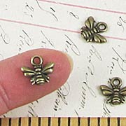 Small Bronze Bee Charm*