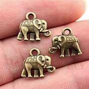 Tiny Bronze Elephant Charms*