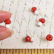 Small Ceramic Mushroom Bead