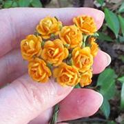 Tiny Paper Roses - Orange*