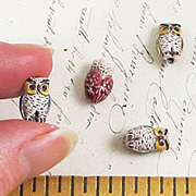 Small Ceramic Owl Bead