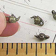 Tiny Bronze Teapot Charms