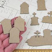 Tiny Tombstones Shape Set