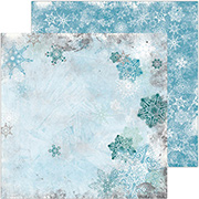 Winter Playground Toboggan Scrapbook Paper