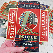 Tim Holtz Christmas Vignette Box Tops