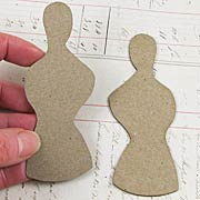 Chipboard Torso Die-Cuts