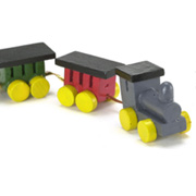 Painted Wooden Toy Train Set