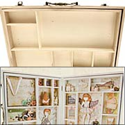 Alterable Wooden Doll Luggage with Trays