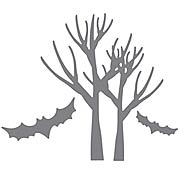 Spooky Trees and Bats Die Set