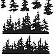 Tree Line Cling-Mounted Stamp Set