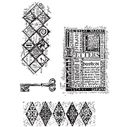 Classics 3 - Key Trellis Cling Stamp Set