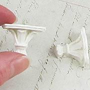 Triangular White Shelf Brackets - Set of 2