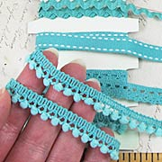 Fancy Trims - Shades of Teal